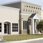 stucco commercial building