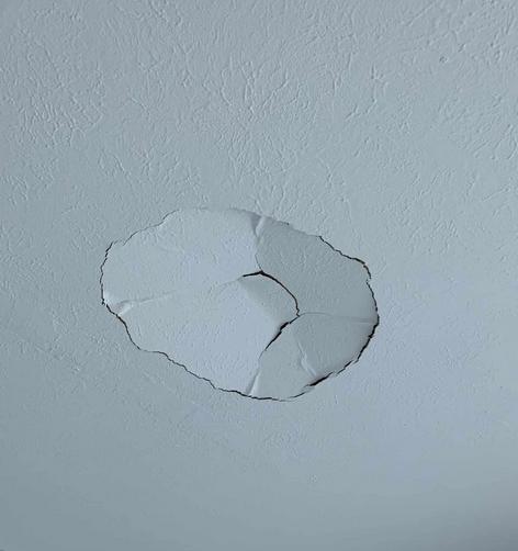 broken drywall